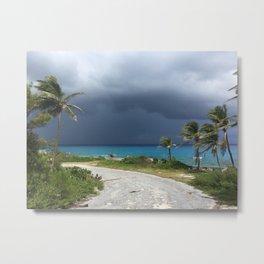 Squall off Long Island Bahamas Metal Print