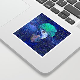 Tree of Life Yin Yang Earth Space Sticker