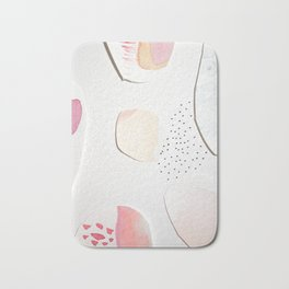 Minimalist Watercolor Collage Detail I Bath Mat