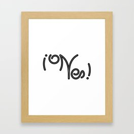 Indecisive Yes or No (black text) Framed Art Print