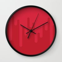 blood Wall Clocks featuring Blood by White Wolf Wizard