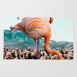 Flamingos In The Desert #society6 #artprints #flamingo Rug