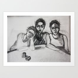 Three Is Better Than  One Art Print