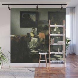 Stolen Art - The Concert by Johannes Vermeer Wall Mural