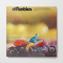 1972 Hot Wheels Rumblers Toy Motorcycle Catalog Poster Metal Print