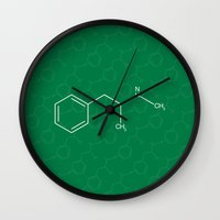 breaking bad Wall Clocks featuring Breaking Bad by Karolis Butenas