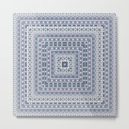 digital template Ethnic ornament tribal Metal Print
