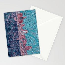 cincinnati city skyline Stationery Cards