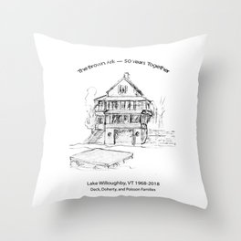 Brown Ark 50 years Throw Pillow