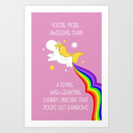 Unicorn spells love Art Print