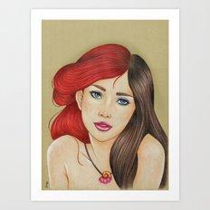 Ariel & Vanessa Art Print