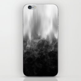 B&W Spotted Blur iPhone Skin