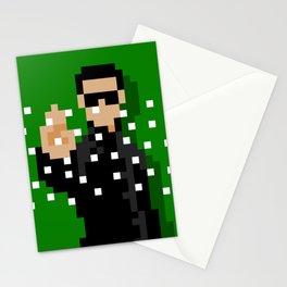 Neo of the Matrix minimal pixel art Stationery Cards