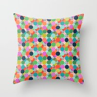 chelsea Throw Pillows featuring Chelsea Dot by Elephant & Rose