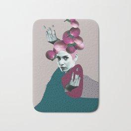 Woman Portrait Collage Bath Mat