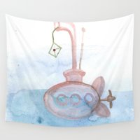 submarine Wall Tapestries featuring Submarine by mirelajoja