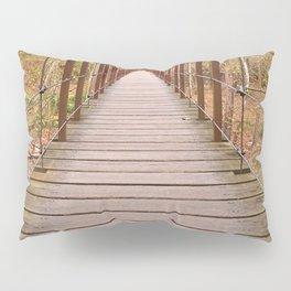 Orange Grove Suspension Bridge Pillow Sham