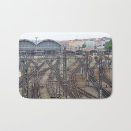 Prague Train Station Bath Mat