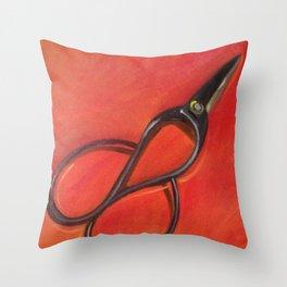 Cut II Throw Pillow