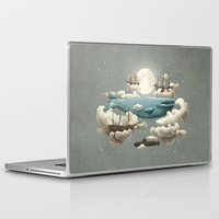 sun and moon Laptop & iPad Skins featuring Ocean Meets Sky by Terry Fan