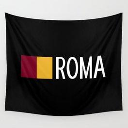 Italy: Roman Flag & Roma Wall Tapestry