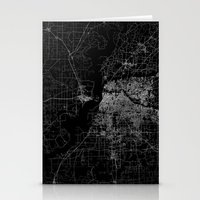 memphis Stationery Cards featuring Memphis map by Line Line Lines