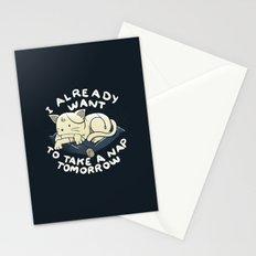 I Already Want To Take a Nap Tomorrow Stationery Cards