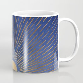 Twilight / Blue and Metallic Gold Palette Coffee Mug