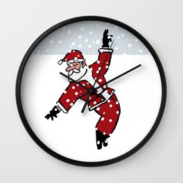 Dancing Santa - 6 Wall Clock