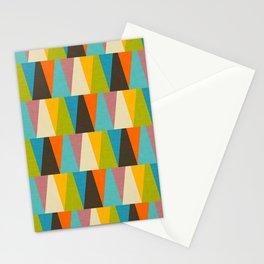 Retro Color Block Triangle Color Fun Stationery Cards