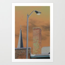 Solarized images of North Adams and Berkshire County Art Print