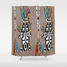 African Tribal Mask No. 7 Shower Curtain