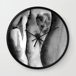 Female Back Nude Form Wall Clock