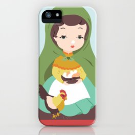 Porcelain Girl (brunette) iPhone Case