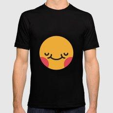 Emojis: Blush Black MEDIUM Mens Fitted Tee