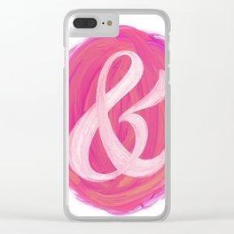 Thick Swirl Ampersand Warm Clear iPhone Case