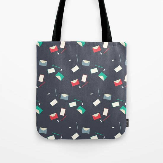 Stationery pattern Tote Bag
