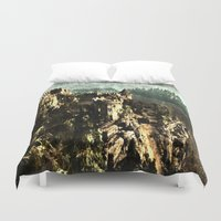 medieval Duvet Covers featuring Medieval Castle by Foxxya