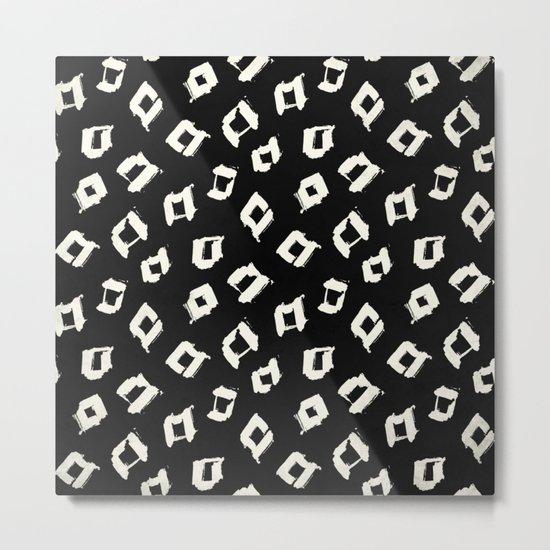 Tribal Square Dots Metal Print