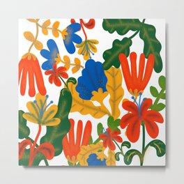 Tropical Flower Pattern II Metal Print