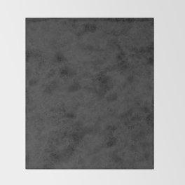 Black suede Throw Blanket