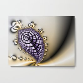 Purple and Gold Abstract Design Metal Print