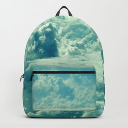 Verdant Green Magical Clouds Floating in Mystical Sky Backpack