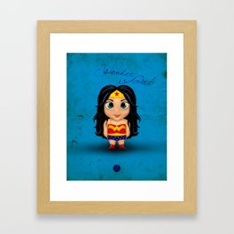 Comic Kids, Series 1 - Wonder Girl Framed Art Print