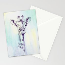 Watercolor and Ink Giraffe Stationery Cards