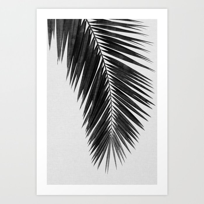 Palm Leaf Black & White I Art Print