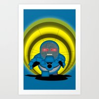 returns Art Prints featuring Chubbyseid Returns  by AWOwens