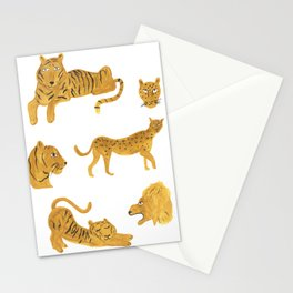 Tiger, Lion, Cheetah Stationery Cards