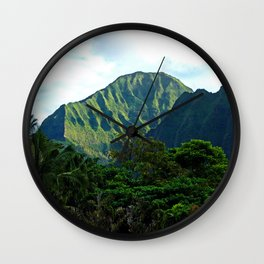 Pali Lookout View 3 Wall Clock
