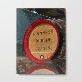 Guinness beer barrel - great man cave art! Metal Print
